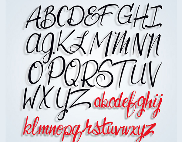 Lettering, Hand Drawn Alphabet English, Script by StasDoDesign #StasDoDesign